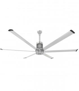 Quạt trần cánh gỗ HGP-1075 màu trắng xám, 1 chao đèn