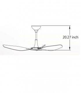 Quạt trần cánh cụp xòe màu trắng HGP-42-801-AB
