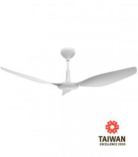 Quạt trần 5 cánh thiết kế kiểu 3D, đèn LED, HGP-56-136-WH