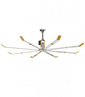 Quạt trần đèn màu đồng cánh gỗ HGP-60-1012