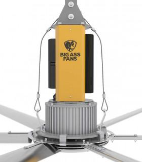 Quạt trần đèn Mountain Air HGP-FF2 cánh gỗ màu xanh nhạt