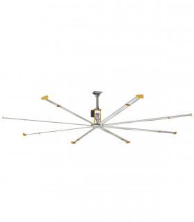 HGP-1075A quạt trần đèn cánh gỗ, màu trắng