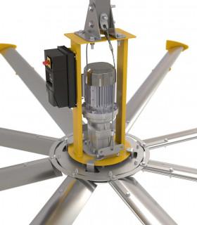 HGP-2675 quạt trần đèn cánh gỗ, màu xám