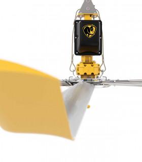 HGP-2620 quạt trần đèn cánh gỗ, 3 chao đèn