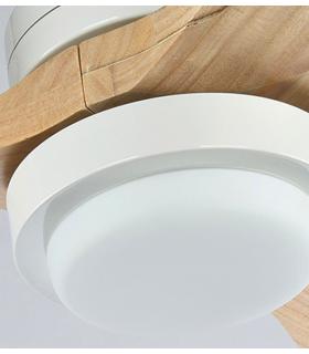HGP-2673A quạt trần đèn, cánh gỗ 2 mặt, chao đèn kiểu cổ điển